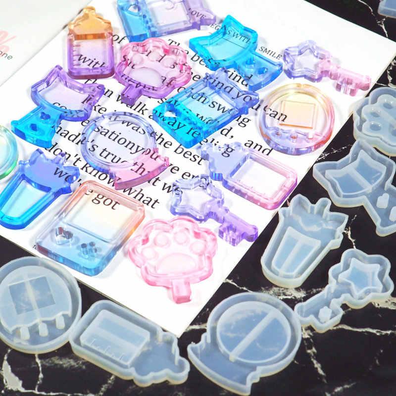 UV Resin Shaker Cetakan Silikon Mesin Boneka Bintang Tongkat Sihir Es Loli Permainan Perhiasan Liontin Diy Hiasan Epoxy Resin Mesin Permen