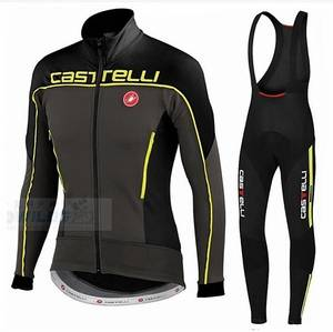 81fdf36f5 Castelli Long Sleeve Cycling Jersey Sets Winter Thermal Fleece Wear Bicycle  Clothing Bib Pant Mountain Bike Ropa Ciclismo hombre