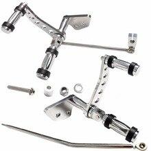 Lucidatura Argento Alluminio Billet Controllo In Avanti Pedane Fit Harley Dyna 2000 2012 Low Rider e 2000 2015 super Glide
