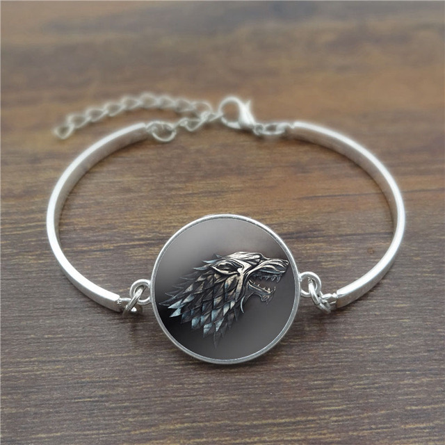 Game of Thrones Stark Wolf Cabochons bracelets & bangles