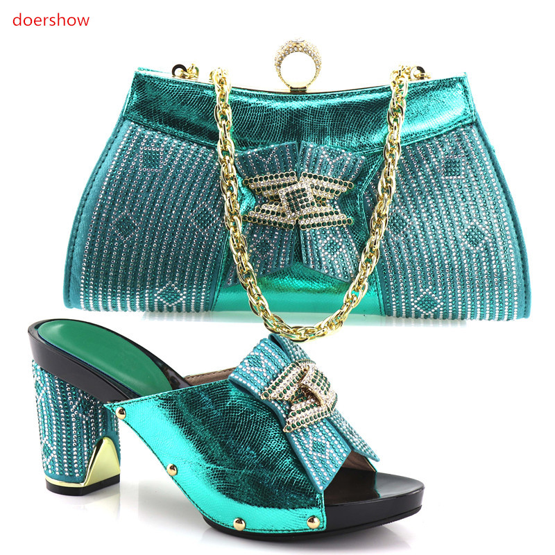 doershow African Matching Shoes and Bags Italian In Women Nigerian Party Shoe and Bag Sets Women Shoes and Bag Set Italy!HV1-42 fashion italy design italian matching shoe and bag set african wedding shoe and bag sets women shoe and bag to match tmm1 41
