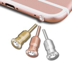 SIANCS Алмазный разъем 3,5 мм разъем для наушников пылезащитный Разъем для iPhone 5 6 планшетный ПК мобильный телефон Пробка для наушников металлич...