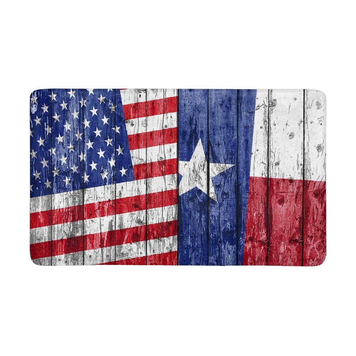 Enthousiast Vlag Us Texas Geschilderd Op Houten Frame Gedrukt Indoor Deurmat Badkamer Keuken Anti-slip Deur Mat Entree Tapijt Tapijten Druppel Droog