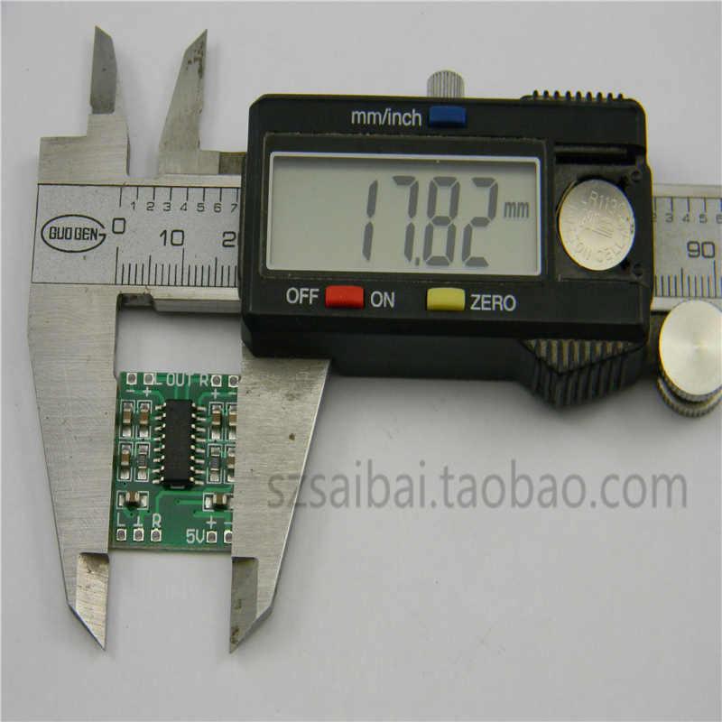 2 pièces Super Mini Classe D À Faible Bruit Amplificateur Audio 2*3 W Double Canal Stéréo Numérique USB Powershare