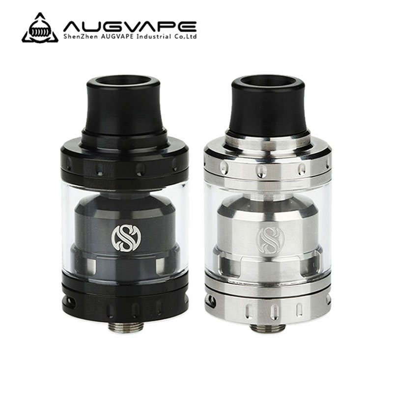 Original Augvape Merlin Mini RTA Tank Atomizer Vaporizer Vape with a single sided 2 Post Velocity Style Deck E-Cigarette Tank original rebuildable tank atomizer fumytech windforce rta