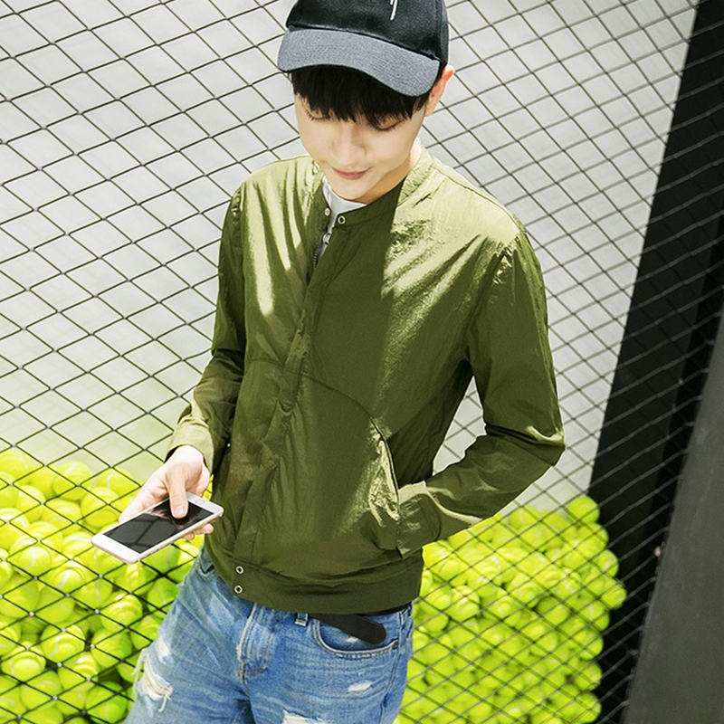 29a8fdceff4 Весна осень куртка-бомбер мужская 2019 Новая мода Китайский длинный куртки  ПАО Мужская Slim Fit