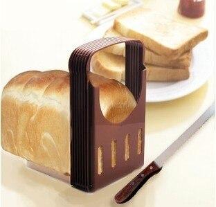 Japão Melhor Prática Pão Brinde Cortador de Pão Slicer Corte Fatias Guia Ferramenta Da Cozinha Cor Aleatória Brotschneider Pan De Corte