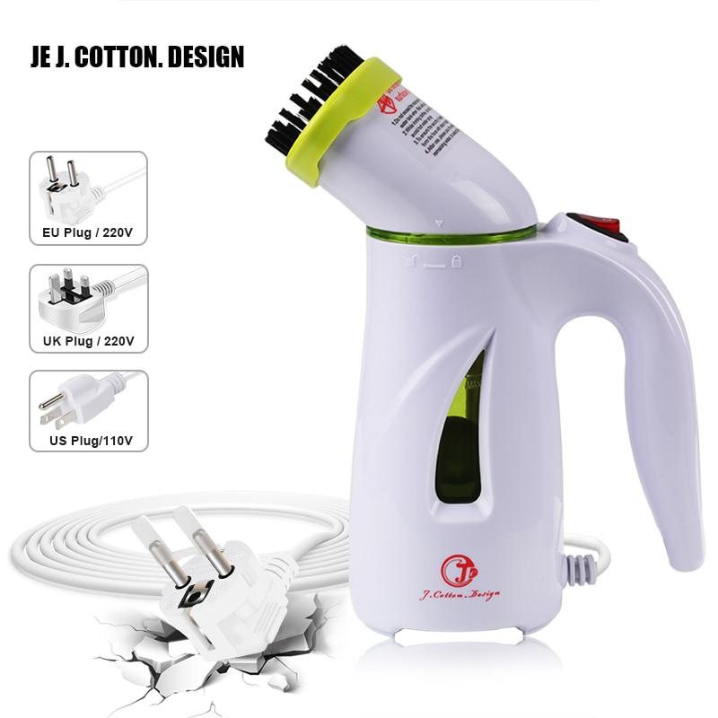 Portátil vaporizador de ropa para ropa Vertical de hierro de vapor planchado con cepillo de mano de tela de vapor máquina limpia de la UE nos enchufe de Reino Unido