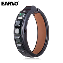 D1 Xiaocai Bluetooth Smart Health Bracelet with LED Marquee Real Leather Jewelry Jewel Support Call Message Reminder Pedometer