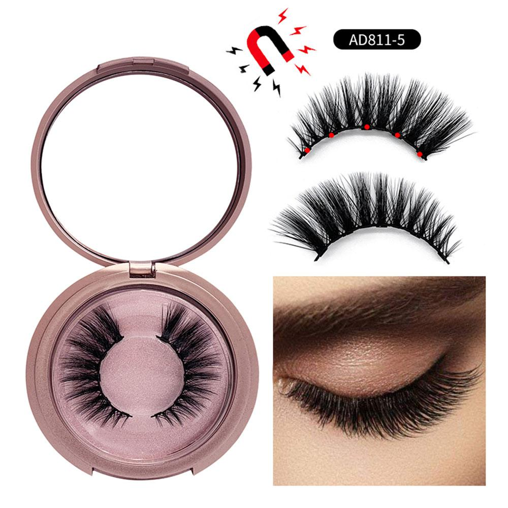 24a647f7571 5 Magnet Magnetic False Eyelashes Natural Full Coverage Glue free Magnetic  False Eyelash Lashes Extension Make up Tools-in False Eyelashes from Beauty  & ...