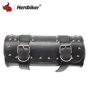 HEROBIKER Motorfiets Bag Riding Reistassen PU Lederen Zadeltas Motorfiets Tool Pakket Opslag Tool Pouch Motor Accessoires