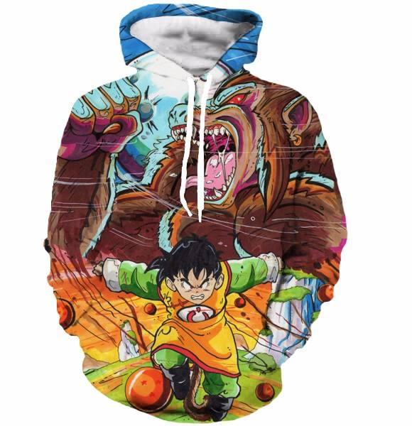 Dragon Ball Z Pocket Hooded Sweatshirts Kid Goku 3D