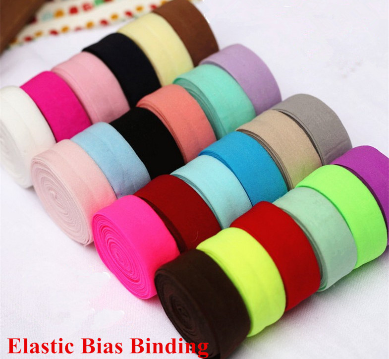 20Meters / Lot 2CM Spandex Bias Binding Elastic Trim Tape