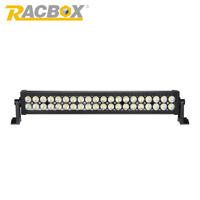 RACBOX Off Road LED Light Bar 22inch 120W 6000K White Spot Flood Combo Beam For Jeep SUV Boat