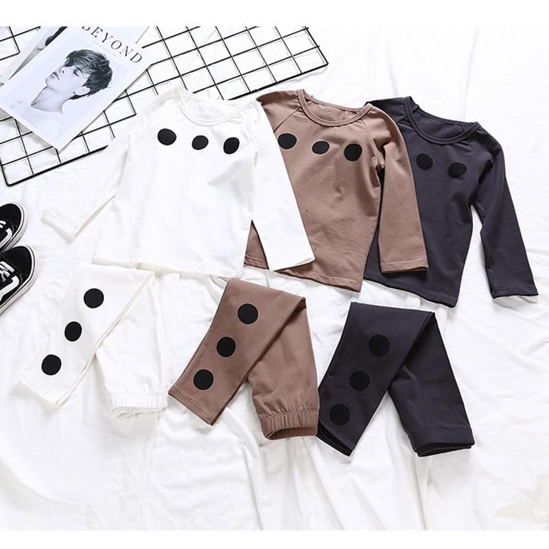 2018 neue Mode Kinder Sets Kleidung Baby Mädchen Kinder Kleinkind Weiche Baumwolle Langarm Frühling Sommer Herbst Pyjama Mit Hosen