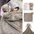 2016 Novos Cobertores Do Bebê Outono Inverno Da Menina do Menino Fundamento Do Bebê Recém-nascido Coral Cobertores de Lã de Presente de Aniversário Brinquedo Animal Cabeça