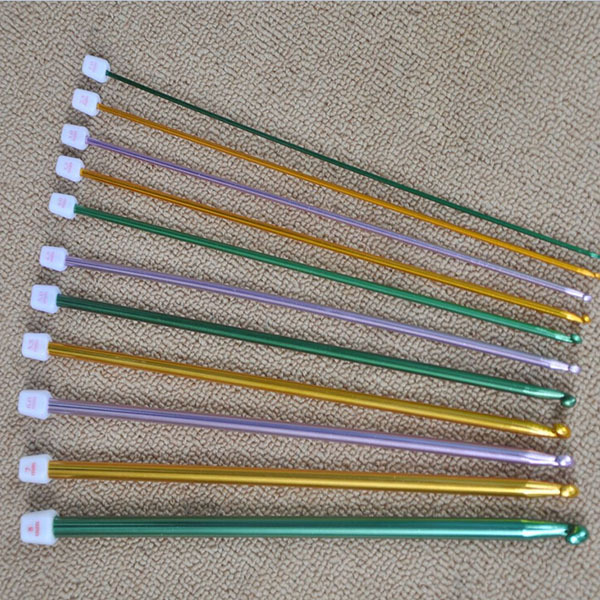 2-8mm Multicolour Aluminum TUNISIAN AFGHAN Crochet Hook Knitting Needles Arts 11PCS