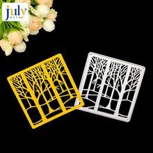 Julyarts Cutting Dies Metal Forest Frame Stencils For DIY Tree Scrapbooking Rectangle Paper Photo Album Craft