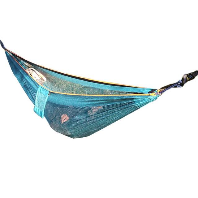 1 2 People Outdoor Leisure Camping Travel Hammock Mesh Hammock Portable  Swing Hanging Bed Garden Swing Balcony Supplies