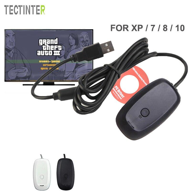 Для Xbox 360 Беспроводной геймпад пк USB приемник адаптер поддерживает Win XP/7/8/10 Системы для microsoft Xbox360 консоли контроллера