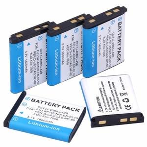 Probty 5PCS LI-42B Li-40B LI42B Li 42B 40B Batteries for Olympus D-630 D-720 D-725 IR-300 FE-290 FE-300 FE-320 FE-3000 FE-3010