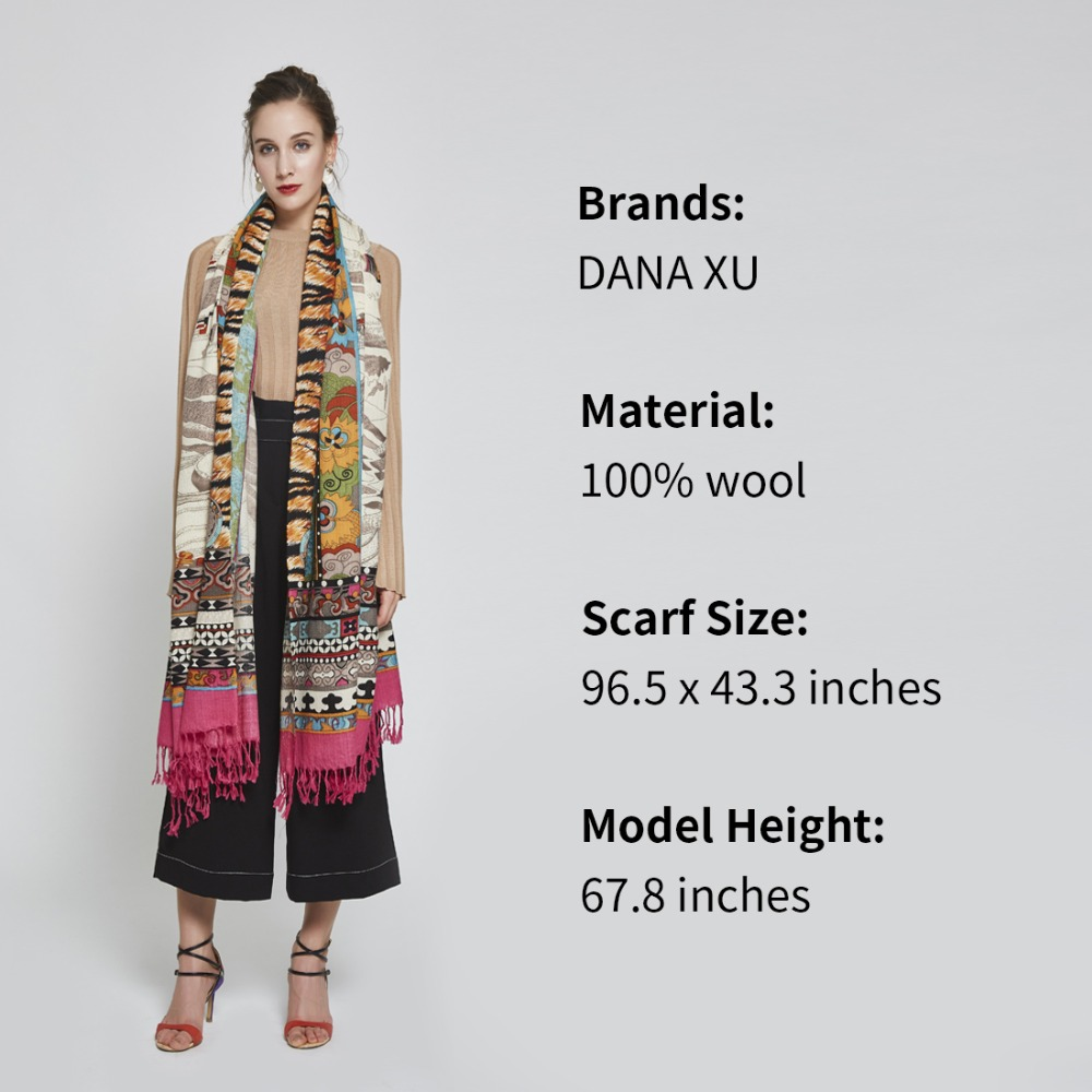 Marque de luxe Plaid cachemire hiver femme Poncho écharpe femme surdimensionné couverture d'emballement laine Cape femmes Pashmina châles et écharpes - 4