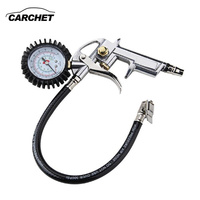 CARCHET Universal Tire Inflator With Pressure Gauge Tyre Pressure Air Inflator Gun For Air Auto Motorcycle