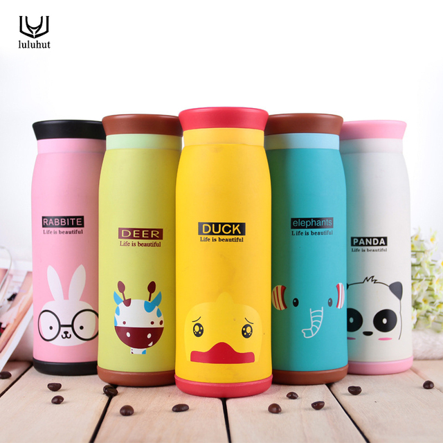Luluhut Animals Design Hot Water Bottle Inox Thermal Insulation Cups Cartoon Vacuum Cup Travel Mug Flask