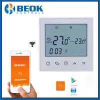 Regulador de temperatura inteligente de luz trasera blanca con termostato de función Wifi Beok TDS21WIFI-EP