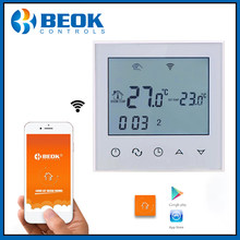 Beok TDS21WIFI-EP Wifi Function Thermostat White Back Light Smart Temperature Regulator(China)