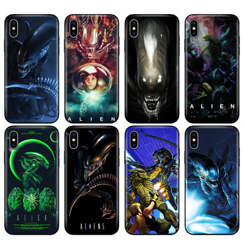 Black tpu case for iphone 5 5s SE 2020 6 6s 7 8 plus x 10 silicon cover for iphone XR XS 11 pro Max Xenomorph Aliens predator image