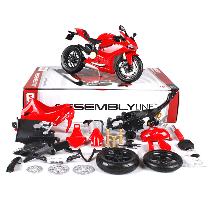 Maisto 1:12 1199 motorcycle diecast metal model kits for ducati red racing motorcycle diecast motorbike model toy for kids 39193