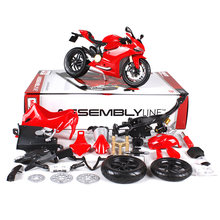 Maisto 1:12 1199 motorcycle diecast metal model kits for ducati red racing motorcycle diecast motorbike model toy for kids 39193(China)