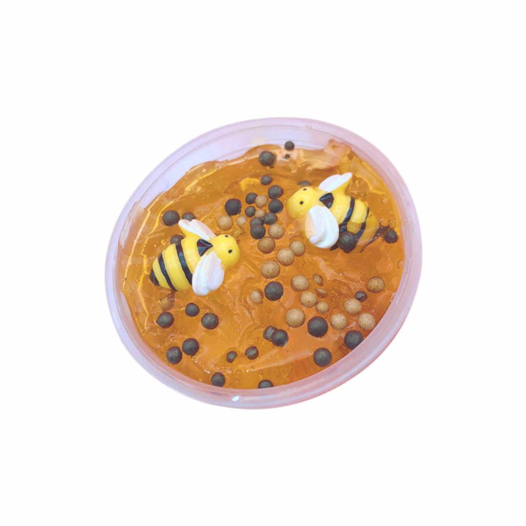 Развивающие игрушки Полимерная глина Красивая пчела смешивание облако слизь шпатлевка ароматизированный стресс Детский пластилин игрушка 60 мл антистресс игрушки