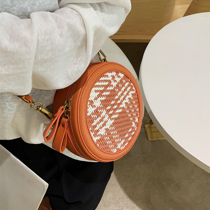 Round Handbag Diamond Purse Messenger-Bags Women Bag Female Fashion Ladies Chain Circular-Design