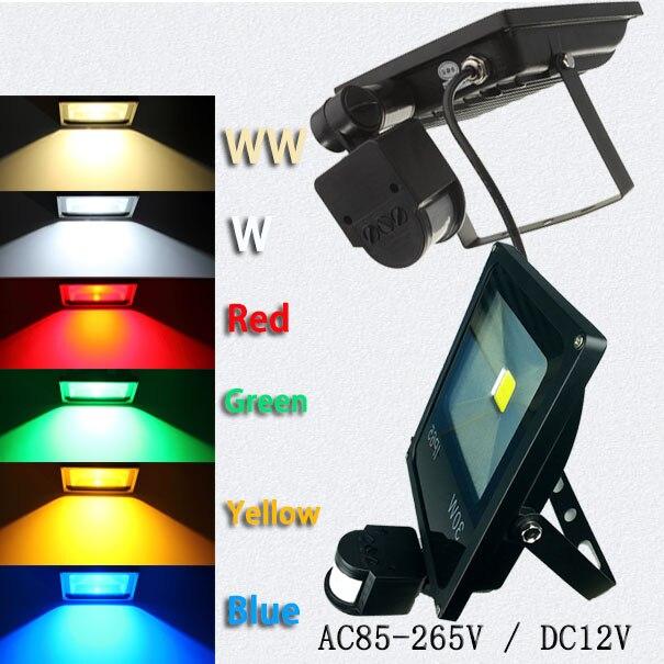 Epistar 10 Вт 20 Вт 30 Вт 50 Вт светодиодный прожектор датчик DC12V 24 В Светодиодная лампа открытый PIR датчик движения Индукционная Чувство светодиодн…