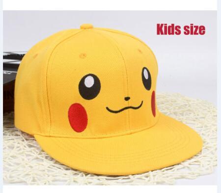 New pikachu cartoon Adjustable Caps girl Baseball hat Cool Boy Hip-hop cosplay accessary kids adults