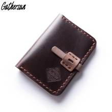 Gathersun Brand New Arrival Genuine Leather Small Wallet For Men Custom Handmade Mini Card Wallets Vintage Slim Purse