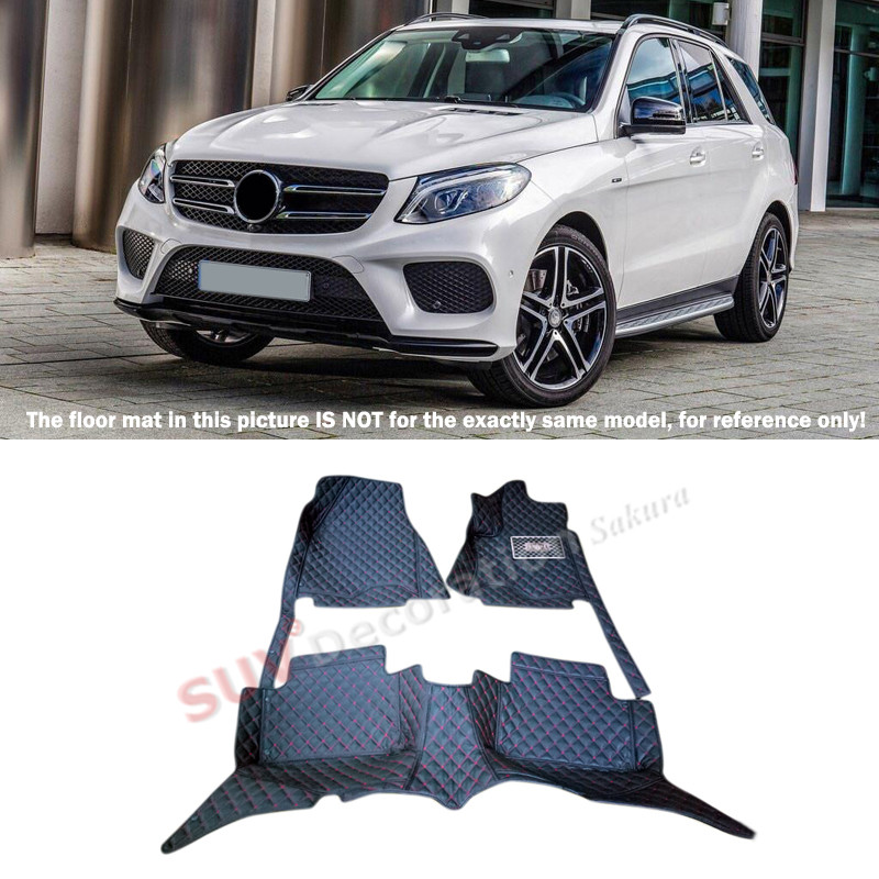 For Mercedes-Benz GLE Coupe C292 2015 2016 Car-Styling ! Accessories Interior Leather Carpets Cover Car Foot Mat Floor Pad 1set картридж canon pgi 9c 1035b001