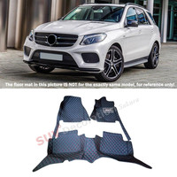 For Mercedes Benz GLE Coupe C292 2015 2016 Car Styling ! Accessories Interior Leather Carpets Cover Car Foot Mat Floor Pad 1set