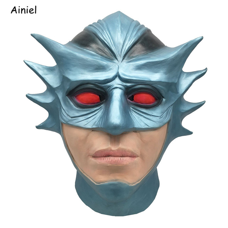 Aquaman Mask Cosplay Costumes Arthur Curry Orin Halloween Party Masks Justice League Full Face Mask Helmet Props Adult Men Kids