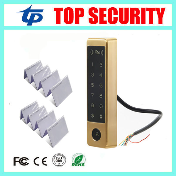 IP65 waterproof door access control system touch keypad 125KHZ RFID card access controller standalone door access control reader smart id card reader standalone 125khz rfid card access controller door security diy door access control system with keypad