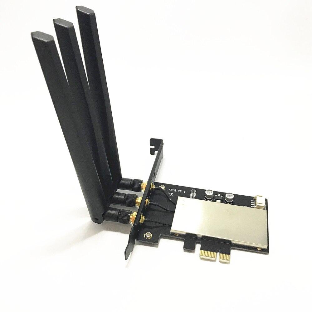 Broadcom BCM943602CS 867 Mbps double bande 802.11ac bureau PCI-E 1X adaptateur WiFi PCi Express carte sans fil + Bluetooth 4.0 - 3