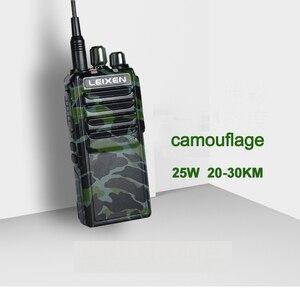 Image 3 - 2pcs LEIXEN VV 25 walkie talkie long range 10 km 25 watts 12.6V 4000mAh battery High Middle Low Power UHF Radio Amador Telsiz