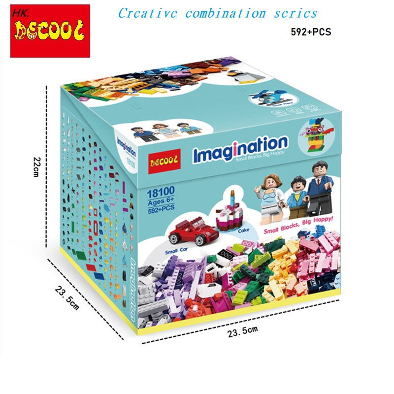 Decool 18100 Creative box 592PCS DIY bricks toys for children educational building blocks for lego MOC for minifigure <font><b>10696</b></font> image