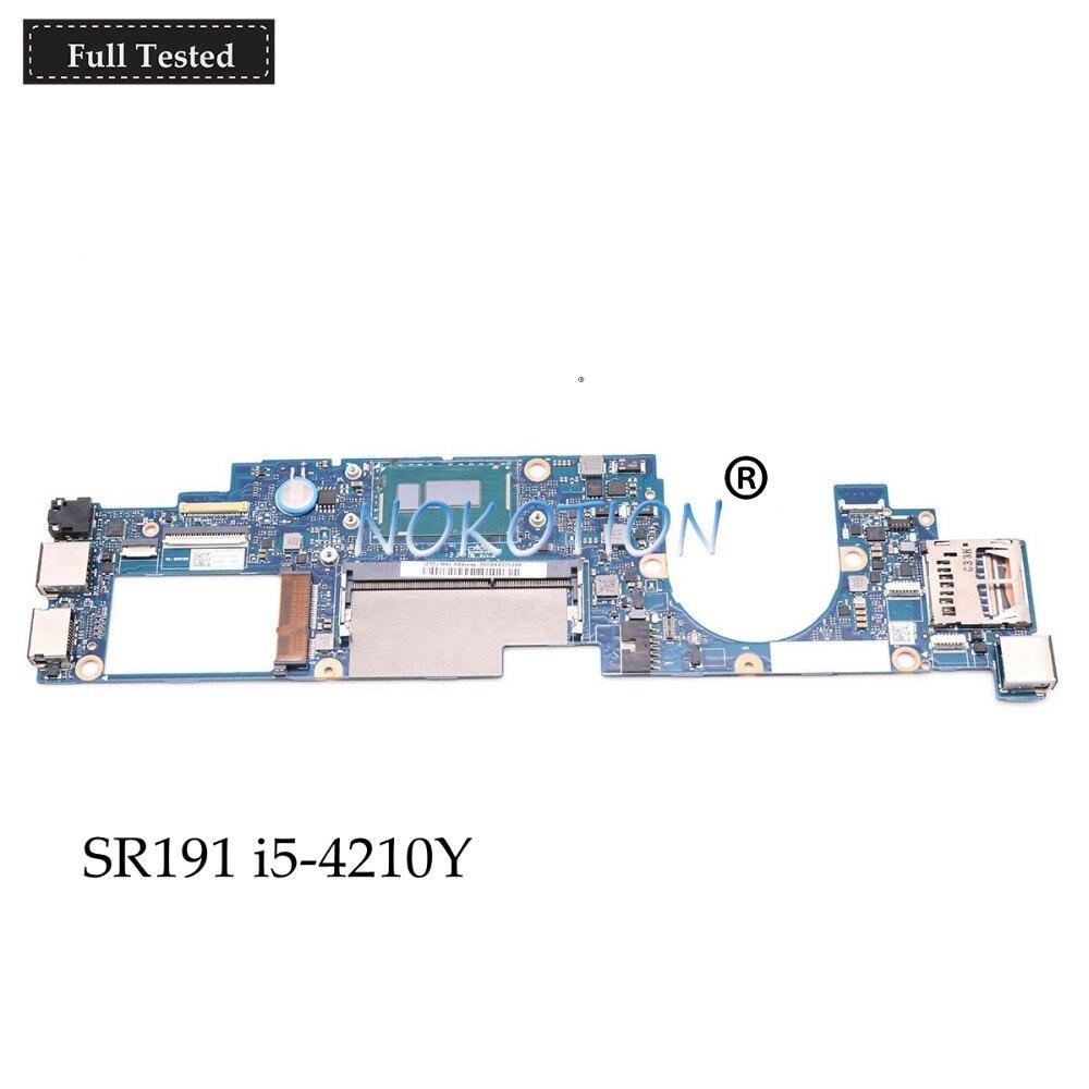 NOKOTION Mère D'ordinateur Portable Pour Lenovo Yoga 11 s 11S-IFI 11.6 SR191 i5-4210Y 1.5 ghz CPU FRU 90004935 AIUU0 NM-A191 carte principale