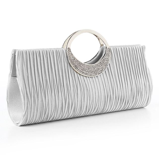 Osmond Women Clutch Lady Handbags Party Satin Bags High Quality Purse Wedding Clutch Female Evening Bags Handbags Bling Bling
