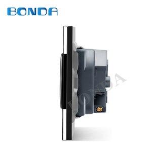 Image 4 - รุ่นBONDA EUมาตรฐานสีขาวสีดำทองแก้วคริสตัลแผงAC 110 250V 16A Wall Power Socket16A 2100maผนังไฟฟ้าpower Socket