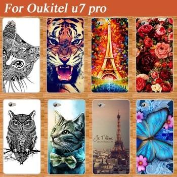 High Quality Colorful case for Oukitel u7 pro DIY Print flower animals Eiffel Towers design SOFT TPU Case For Oukitel u7 pro