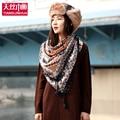 2016 Новая Мода Женщины Большой Площади Кисточкой Шарф Хлопка Печатные Женщины Марка Обертывания Цветочный женщины Шарф женщин зимние шарфы sjaal